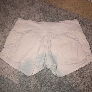 white lulu shorts